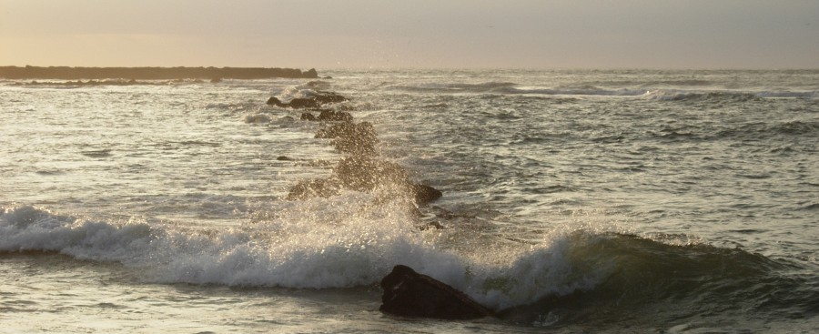 Photo of surf coming in, by the author